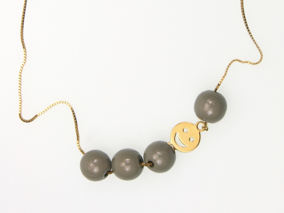 SMILE NECKLACE PEARLS