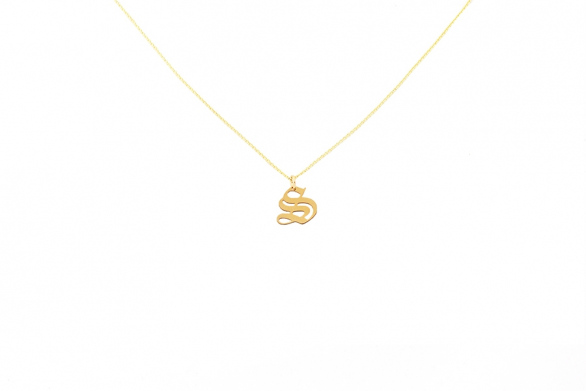 Alphabet NECKLACE Letter S