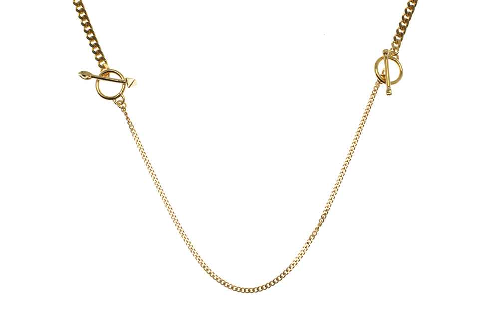 NECKLACE CHAIN DOUBLE TOGGLES EARTH+PYRA