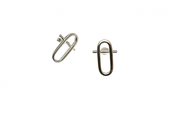 EARRING PINS CURRENT ELLIPSE (SMALL)