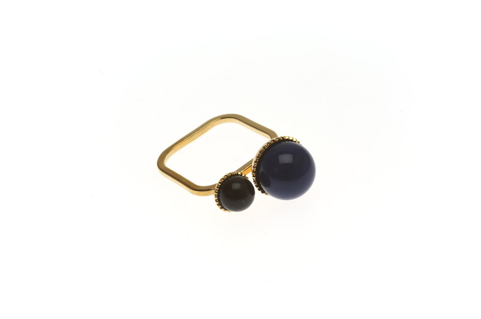 Superfine ring With Pearl Duett