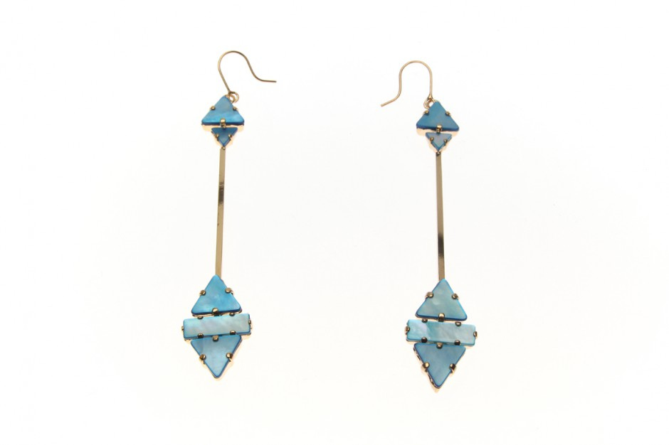 Memphis Star allonge drop earrings