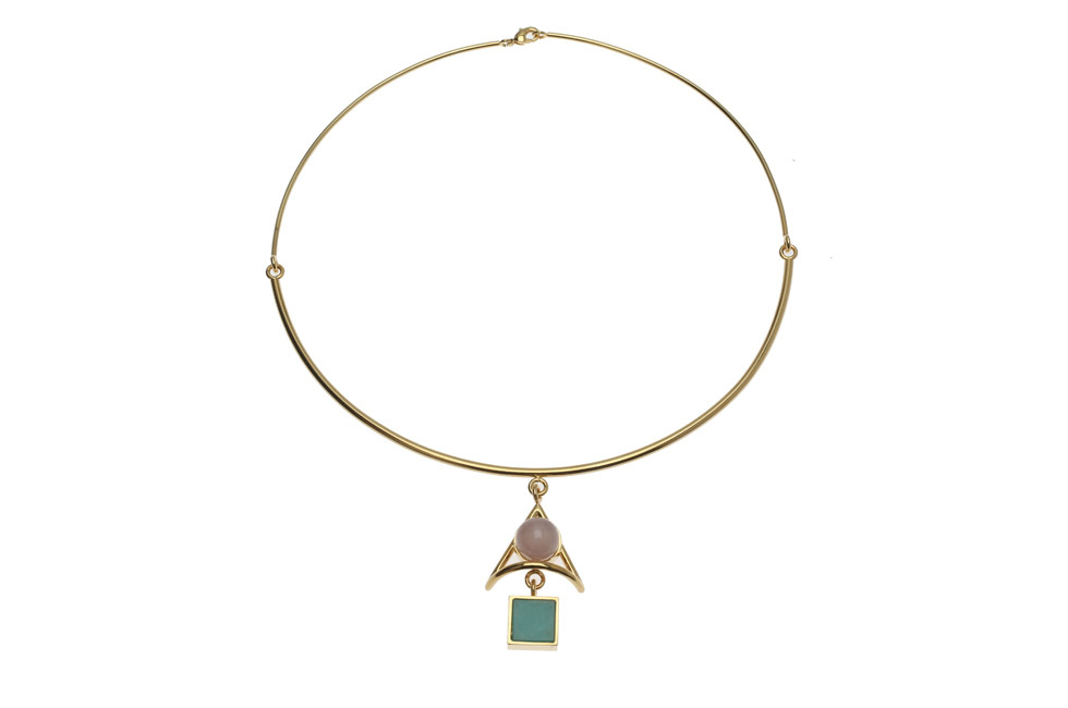 Fine half circlet duo collier with Wise Dart