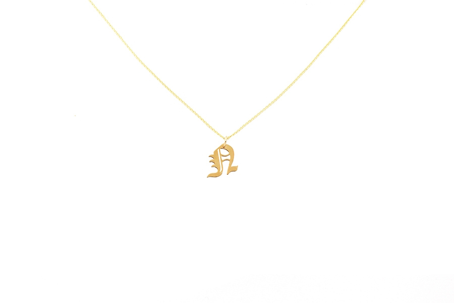 Alphabet NECKLACE Letter N