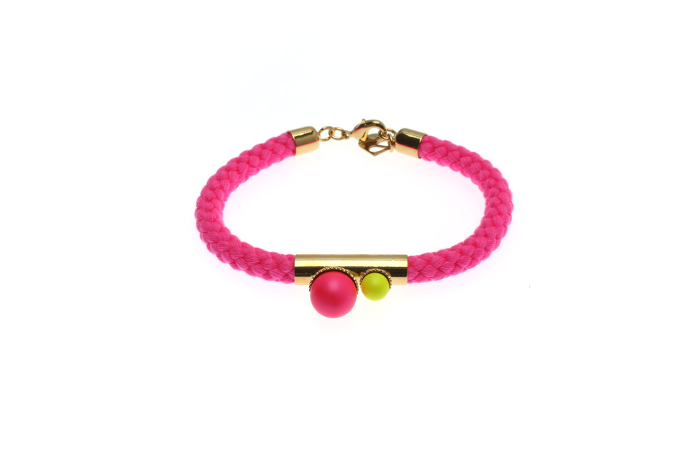 Cord Bracelet With Pearls