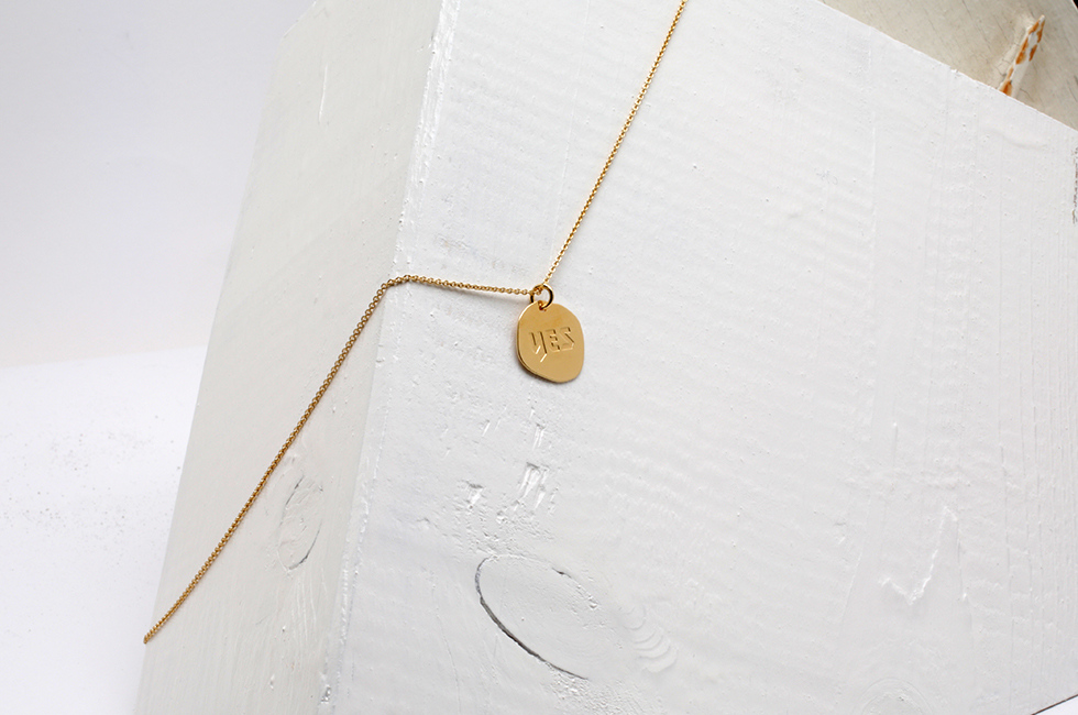 "NECKLACE ""YES"" 14CT GOLD"