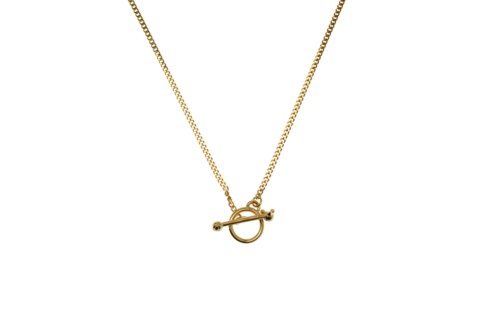 NECKLACE CHAIN FINE TOGGLE CAT+MOUSE