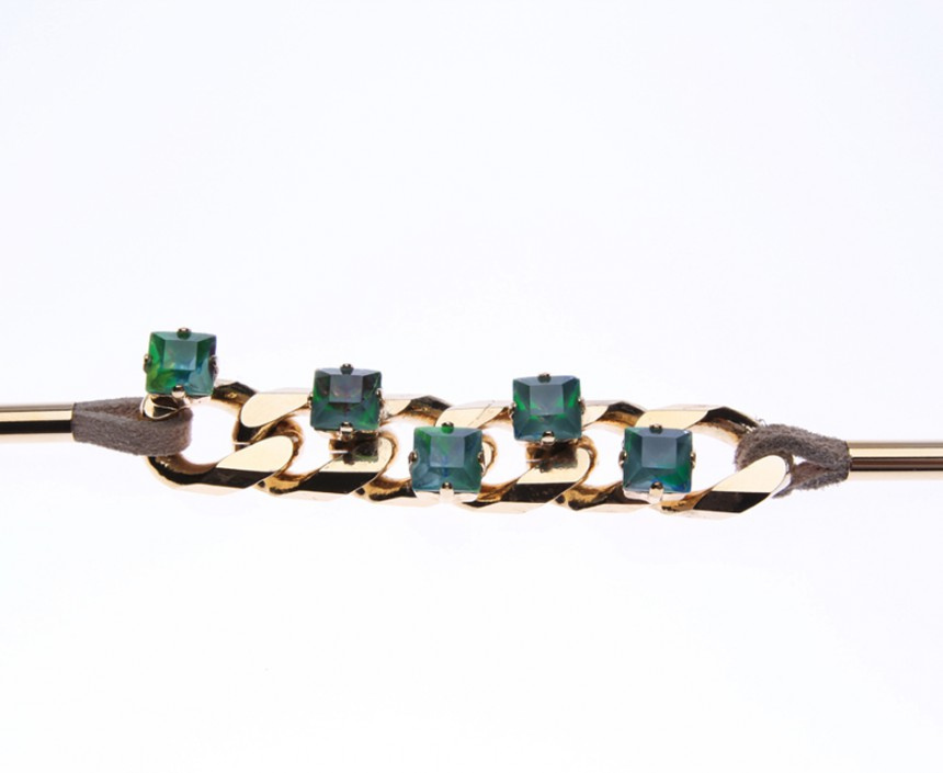 BRACELET WITH HEAVY CURB CHAIN