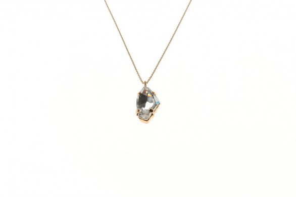 Necklace Fine Leo Crystal Rock Small
