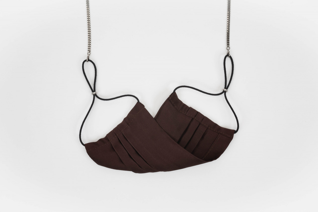 SILK MASK, chocolate brown