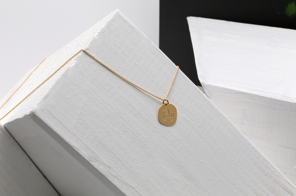 """NECKLACE """"OUI"""" 14CT GOLD"""