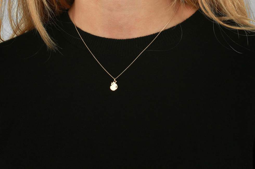 Necklace with Apple
