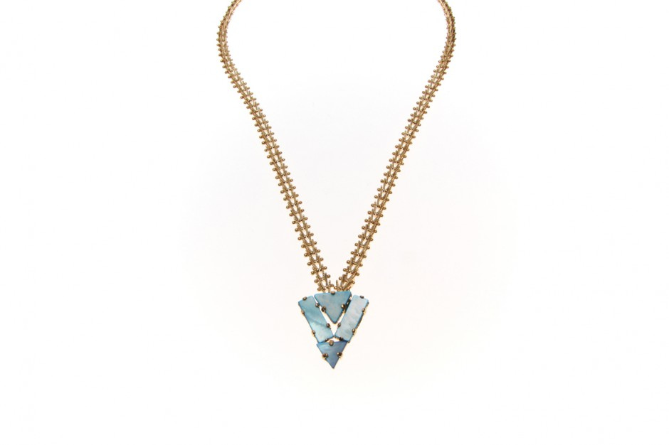 Collier Art Deco Indian Dart Chain