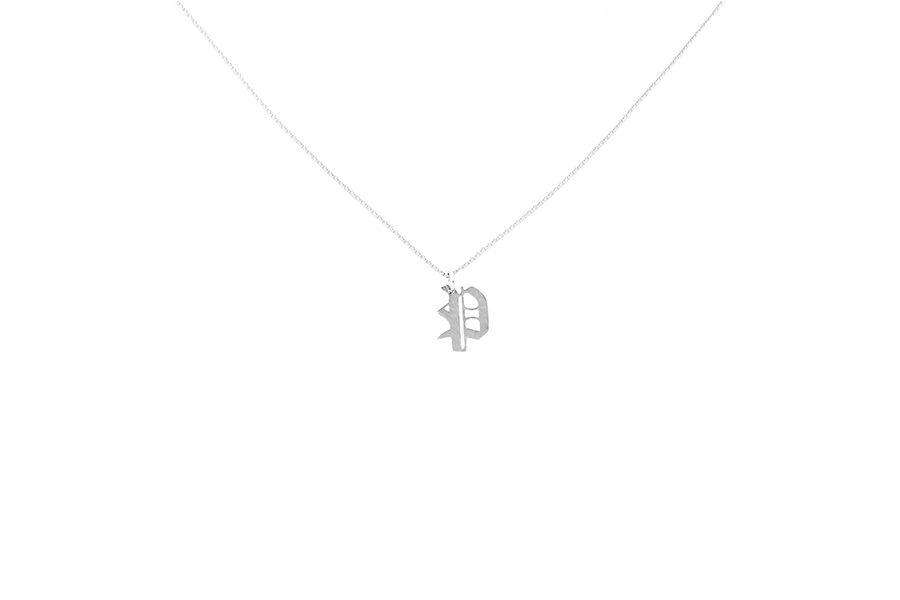 Alphabet NECKLACE Letter P silver