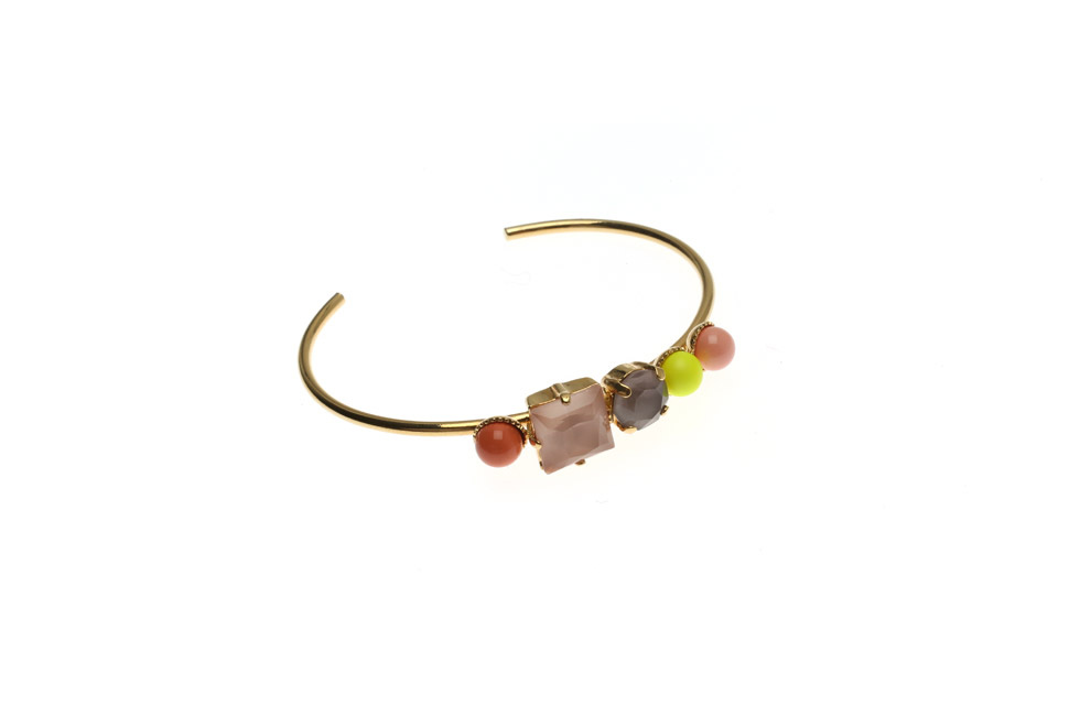 Open Bangle With Pearl and Crystal Range