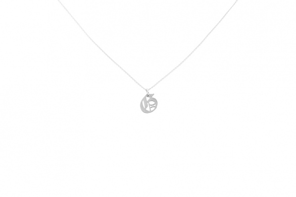 Alphabet NECKLACE Letter G silver