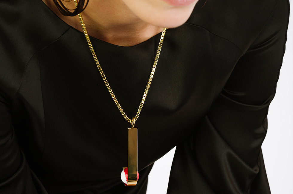 Necklace with Marbled Globe