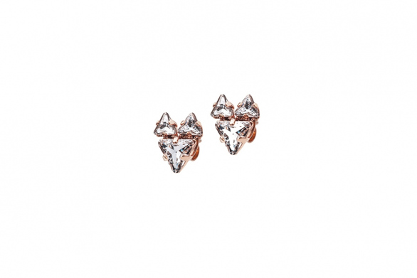 THE BABYFOX EARRINGS rose gold