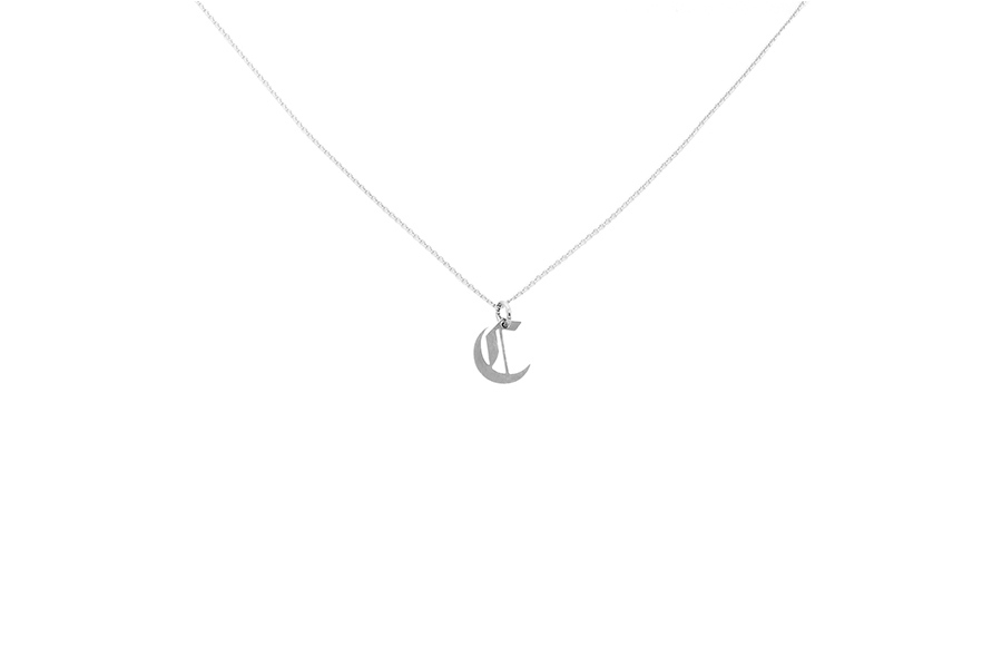 Alphabet NECKLACE Letter C silver