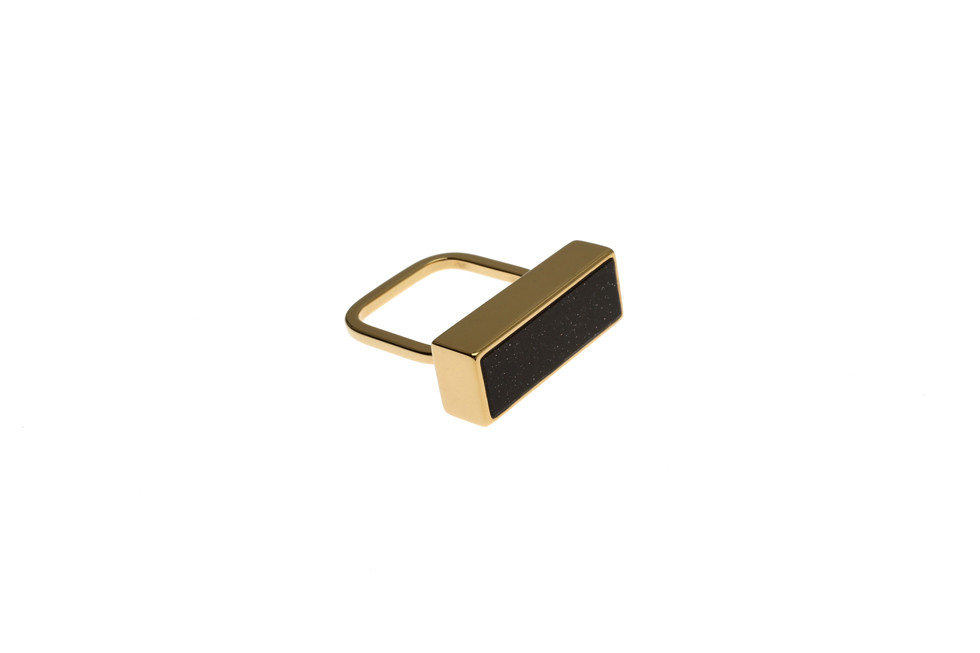 FINE RING WITH GALAXY RECTANGLE