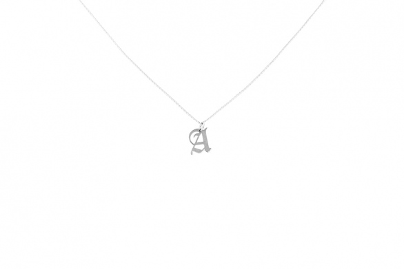 Alphabet NECKLACE Letter A silver
