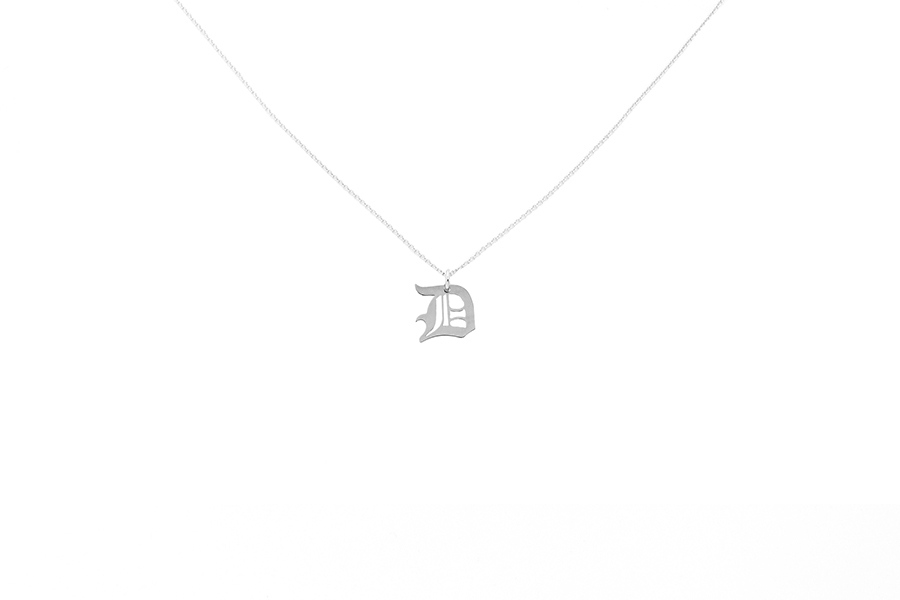Alphabet NECKLACE Letter D silver