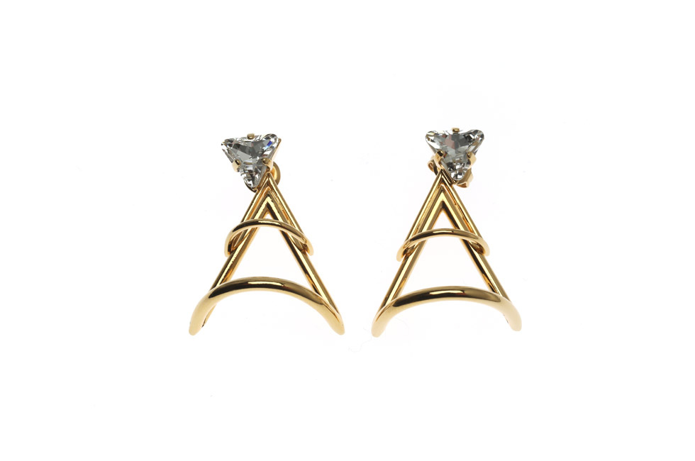 Earrings with big Triangle of Joy