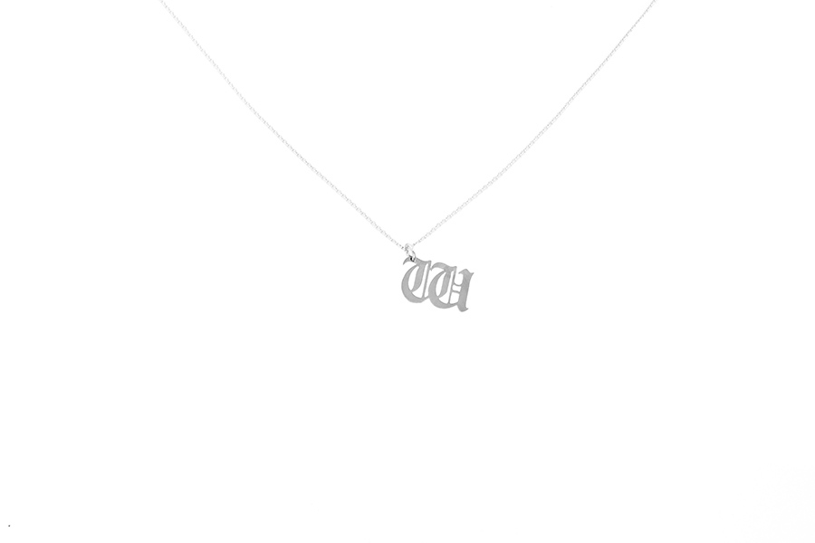 Alphabet NECKLACE Letter W silver