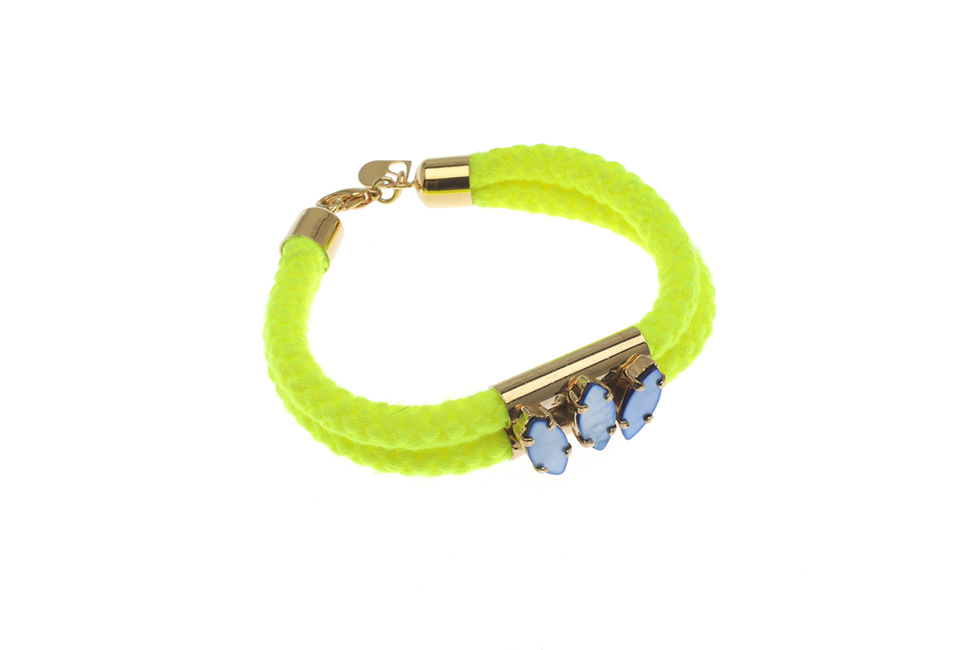 DOUBLE CORD BRACELET + TWINTUBES WITH LEAVES