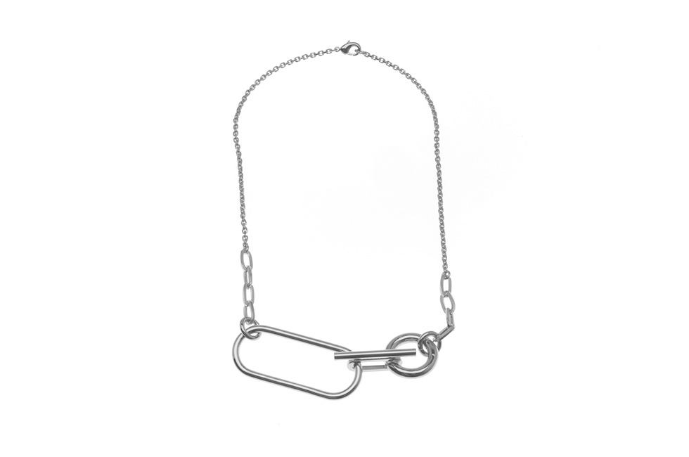 NECKLACE CURRENT ELLIPSE MIX BRUT