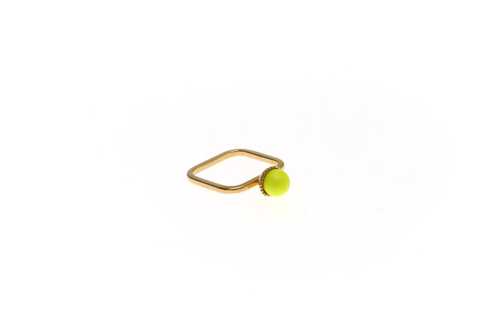 RING SUPERFINE WITH PEARL BALL SMALL