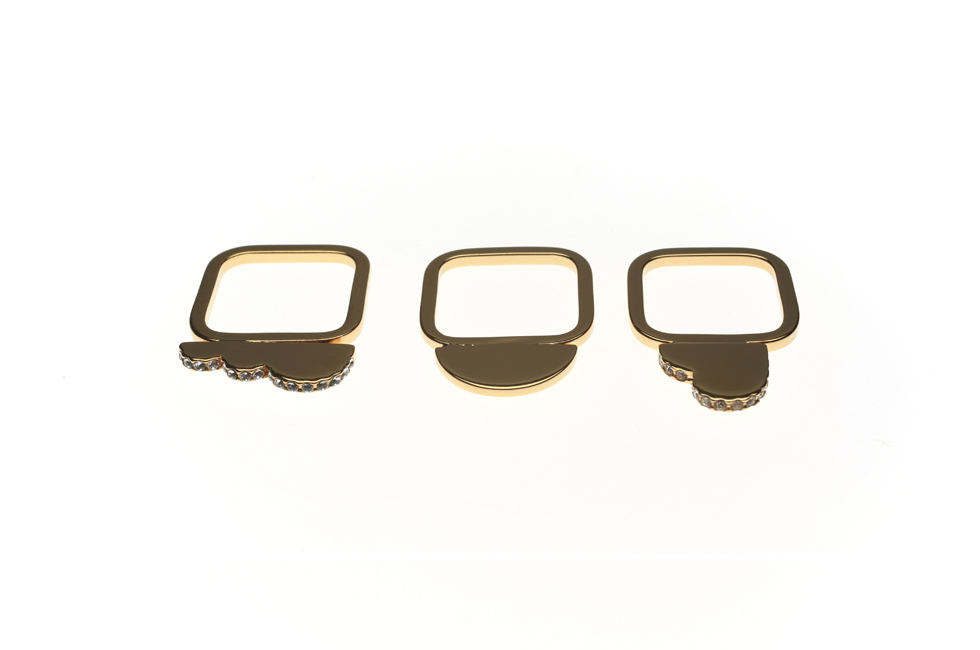 SPARKLY RING SET OF 3