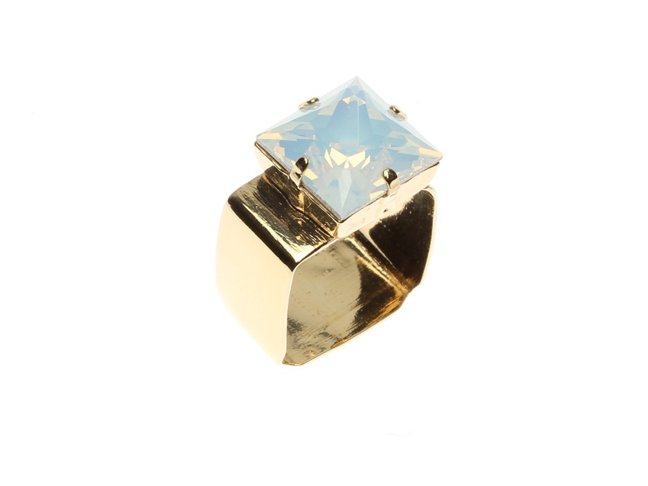 ROUNDED SQUARE RING WIDE