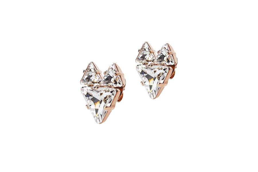 THE FOX EARRINGS rose gold