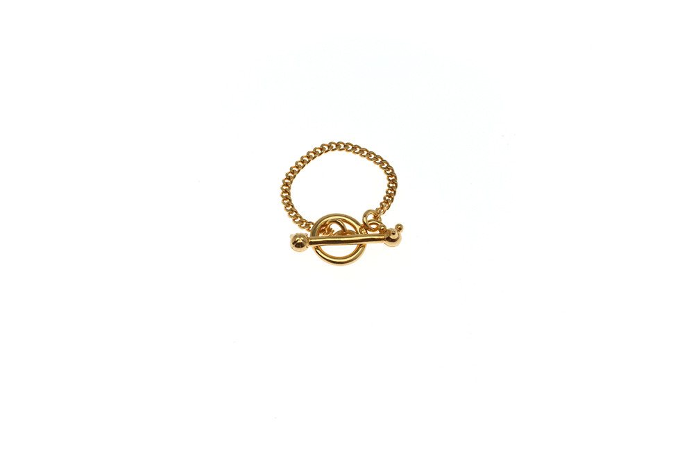 RING CHAIN FINE TOGGLE CAT+MOUSE