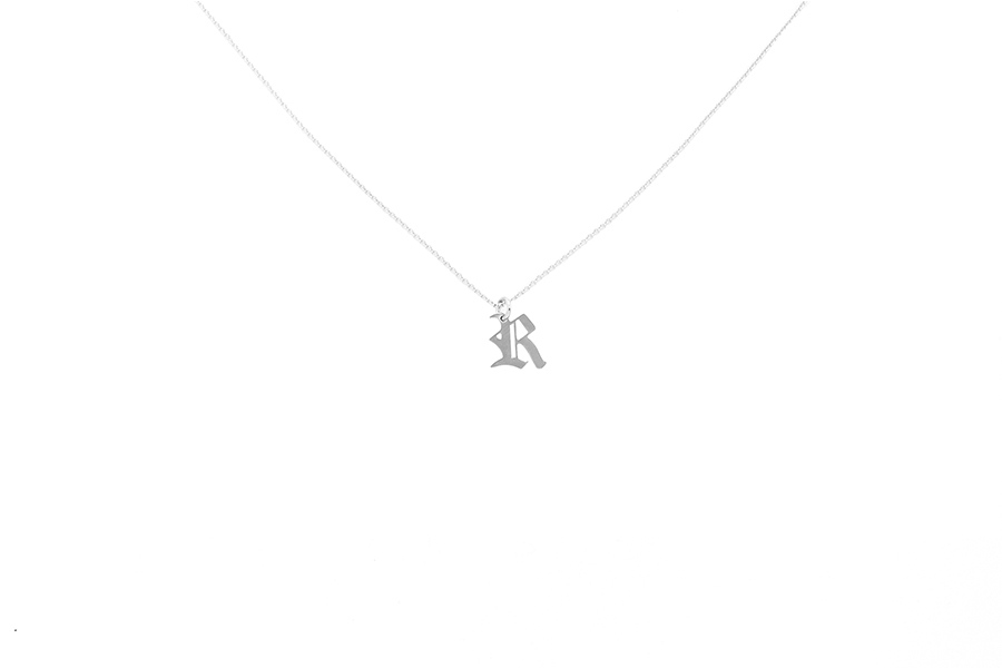 Alphabet NECKLACE Letter R silver
