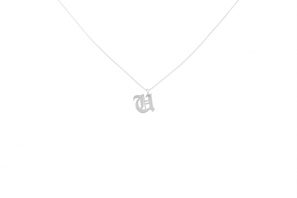 Alphabet NECKLACE Letter U silver