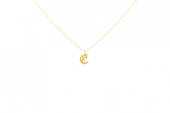 Alphabet NECKLACE Letter E