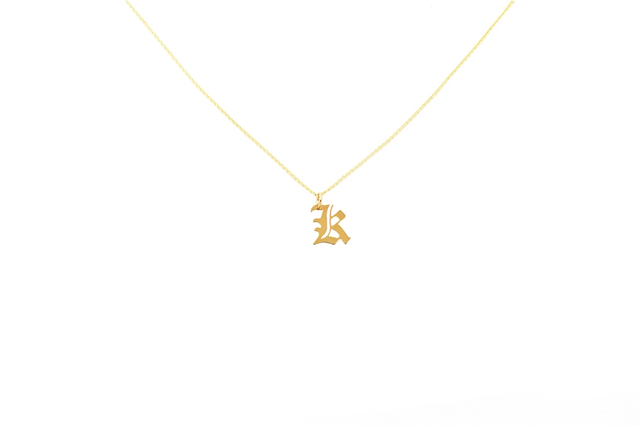 Alphabet NECKLACE Letter K