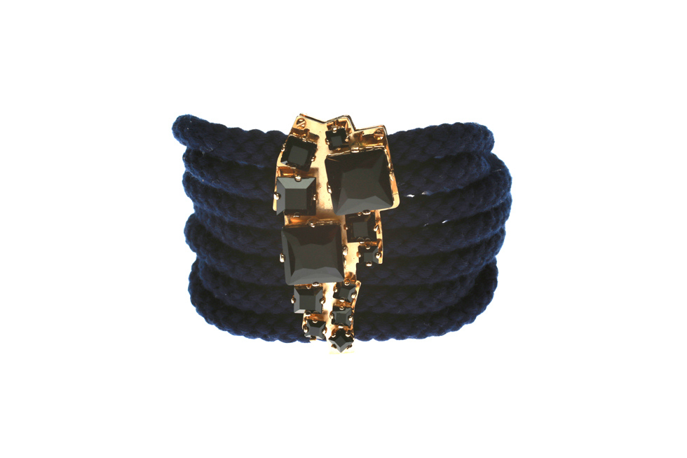 CORD BRACELET WITH SQUARE PLATE