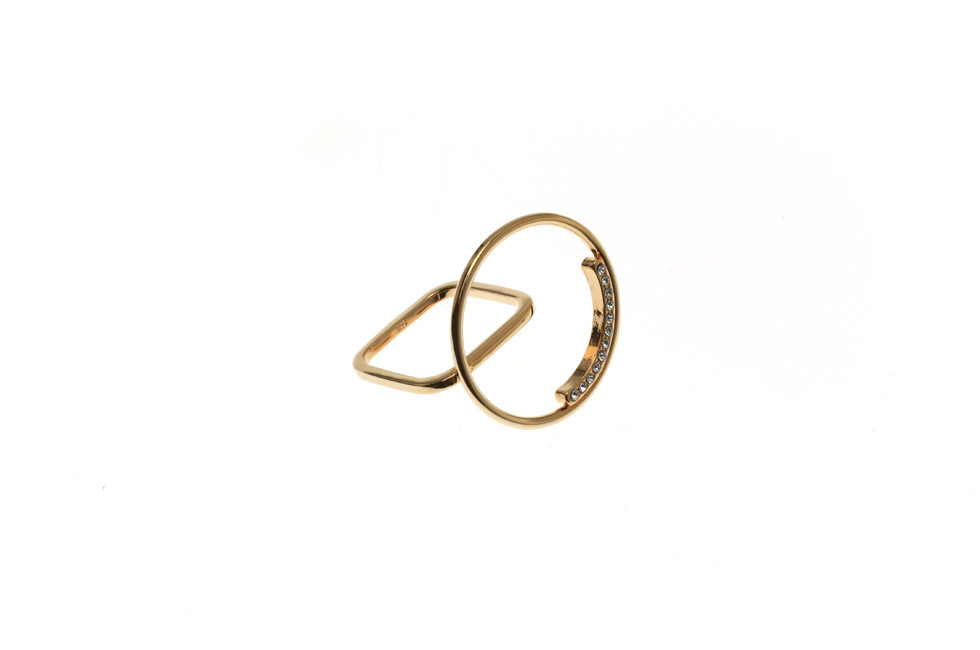Ring with big Crystallized Aspiration Circle