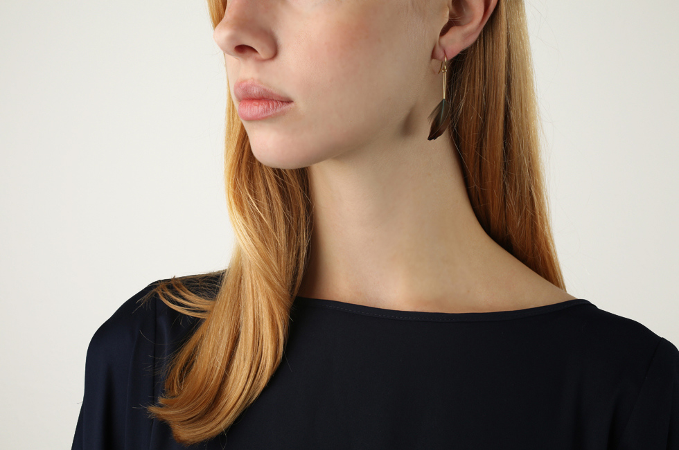 Single Earring With Feather