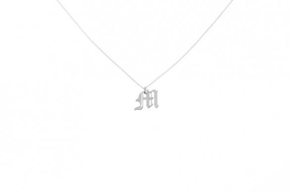Alphabet NECKLACE Letter M silver