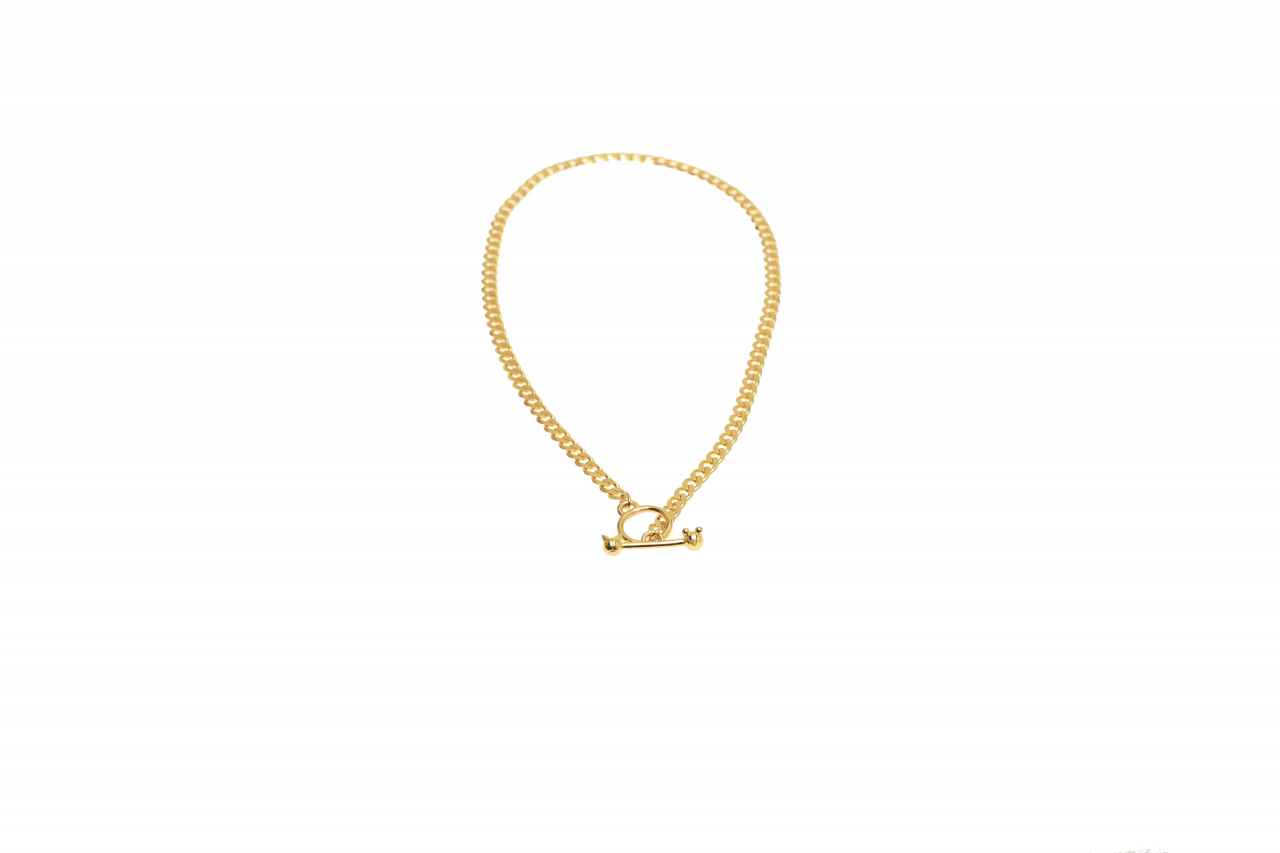 NECKLACE CHAIN ANCHOR TOGGLE M CAT+MOUSE