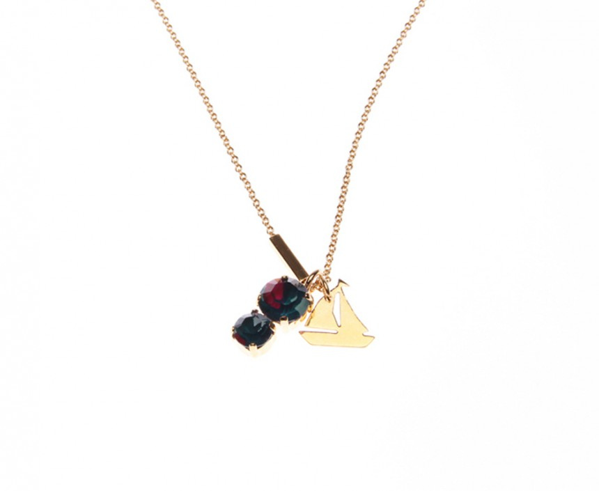 NECKLACE WITH 2 PENDANTS