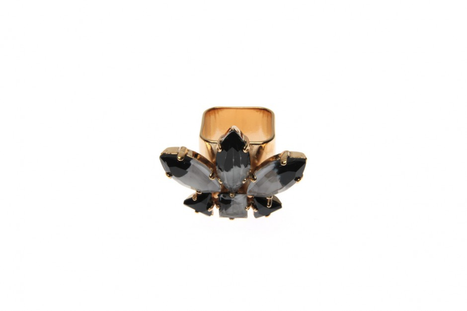 Wide ring with royal feathers