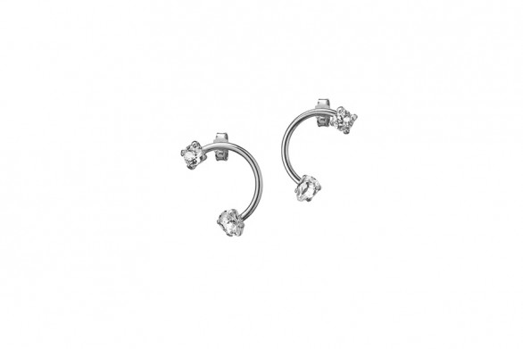 EARRINGS SMILE, silver