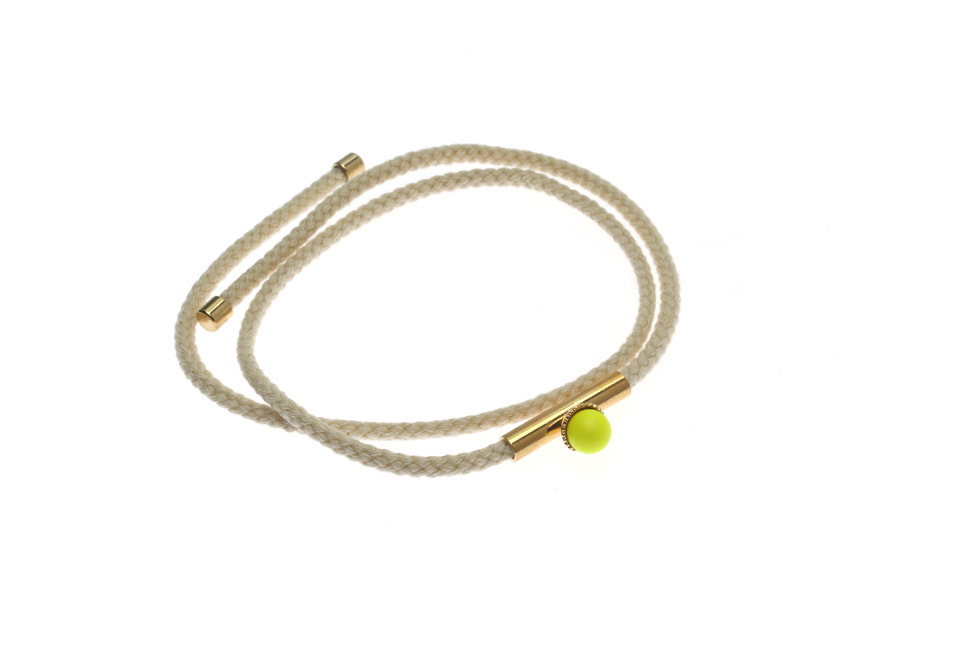 Wrap Cord Bracelet With Pearl