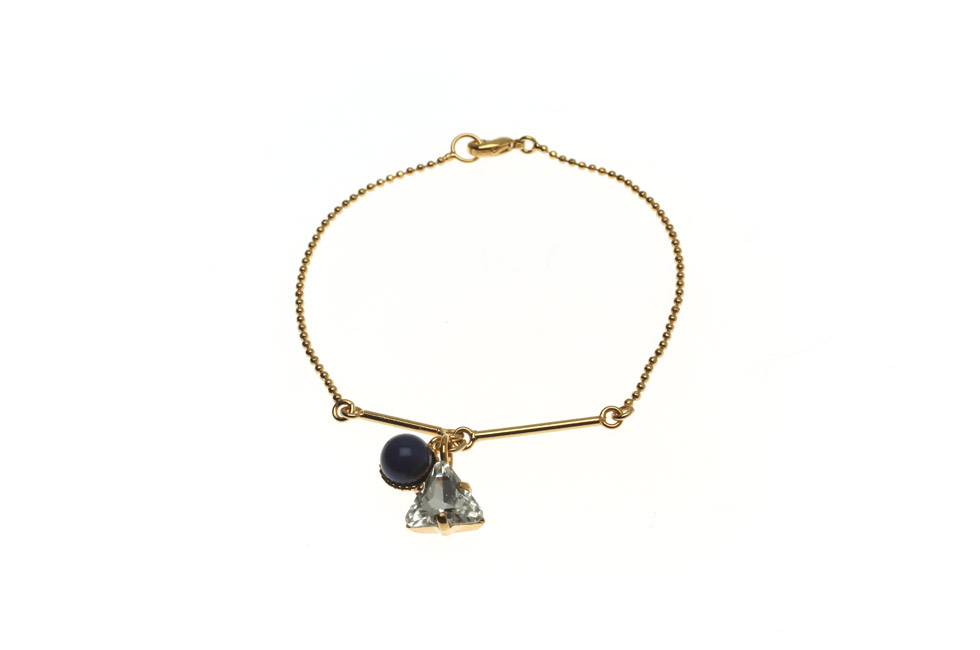 Bracelet With Pearl And Crystal