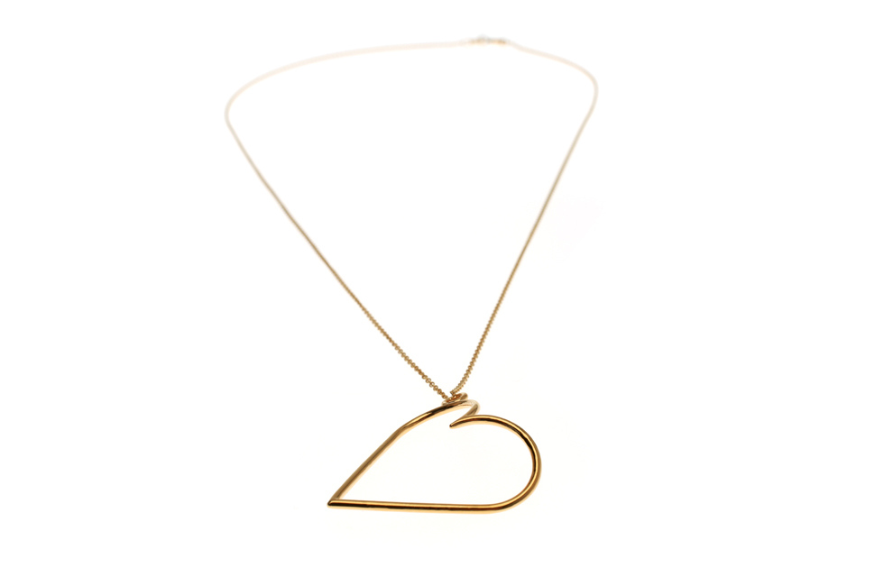 Necklace with big Heart
